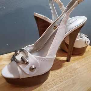 White Guess heels